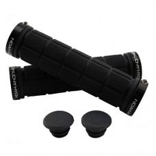 Double Lock On Handlebar Grips BLACK/BLACK
