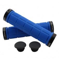 Double Lock On Handlebar Grips BLUE/BLACK