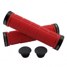 Double Lock On Handlebar Grips RED/BLACK