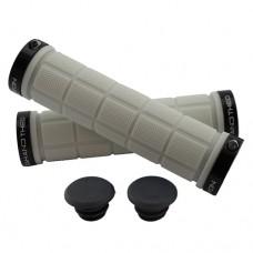 Double Lock On Handlebar Grips WHITE/BLACK