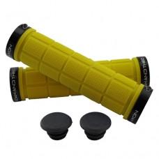 Double Lock On Handlebar Grips YELLOW/BLACK
