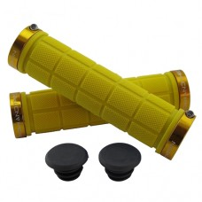 Double Lock On Handlebar Grips YELLOW/GOLD